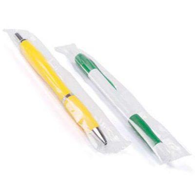 Embolsado individual de bolígrafos publicitarios
