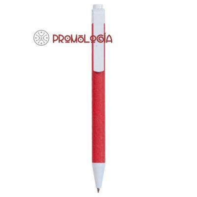Bolígrafo cartón color publicitario reciclado