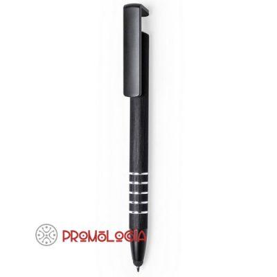 Bolígrafo soporte de aluminio promocional.