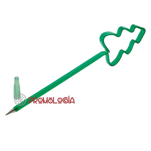Bolígrafo con forma de árbol promocional.