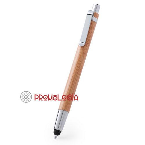 Bolígrafo de bambú con puntero
