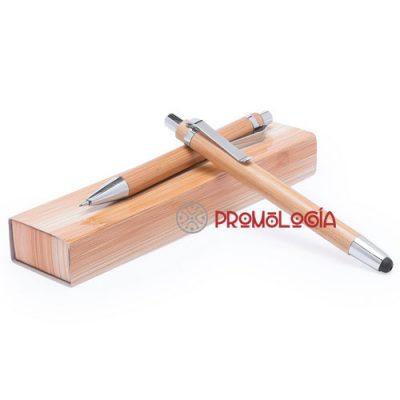 Set escritura de bamboo compuesto por bolígrafo y portaminas.