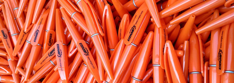 Los bolígrafos publicitarios son el elemento promocional más común en ferias y eventos.