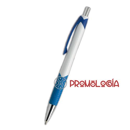 Bolígrafo con pulsador promocional para impresión de su marca