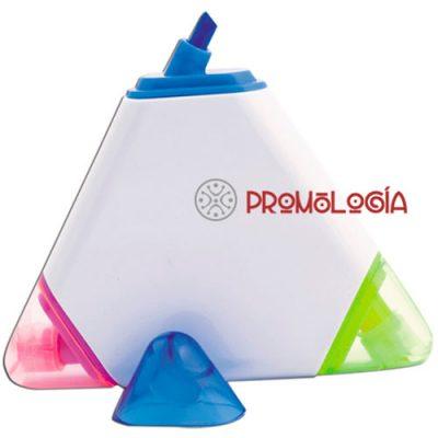 Marcador promocional triangular.